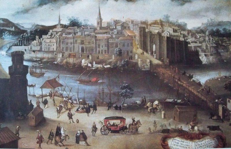 puente de barcas de Sevilla mandado construir por Abu Yaqub Yusuf