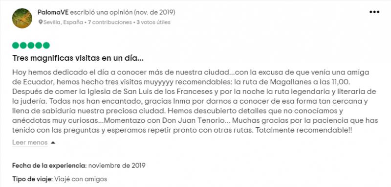 Opinión sobre la ruta LA SEVILLA DE MAGALLANES Y LA PRIMERA VUELTA AL MUNDO.