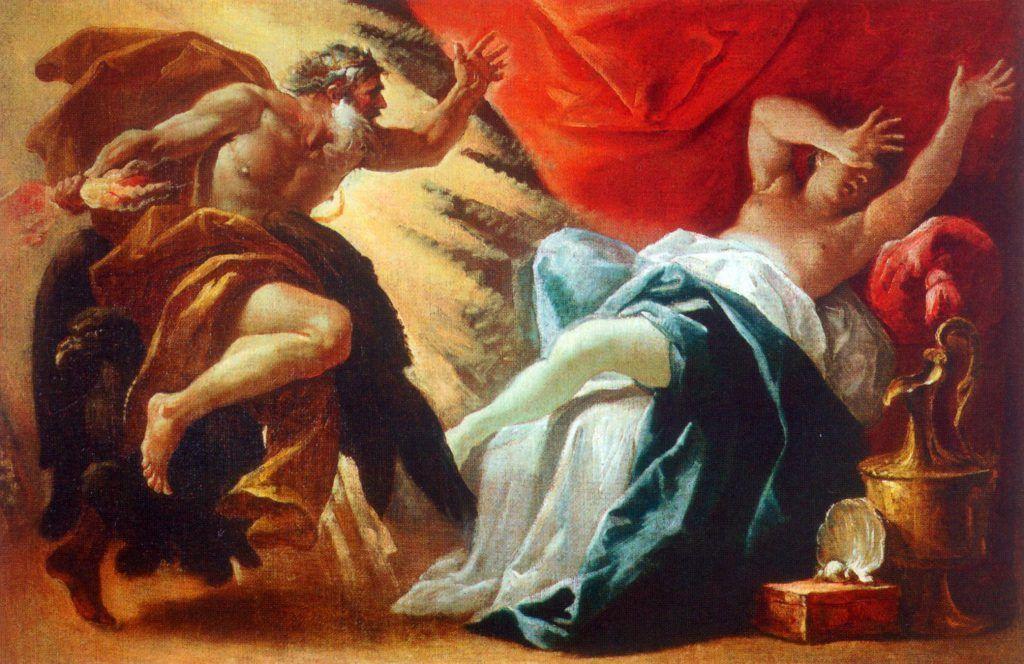 Fruto de la unión de Zeus y Sémele: Dionisos