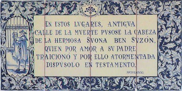 Susona, bella Susona, Sevilla del siglo XV, Diego Susón, Susana Ben Susón,