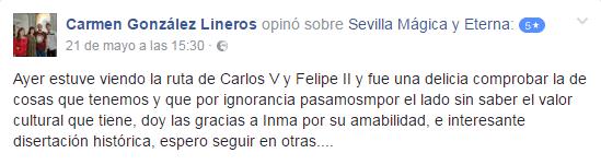 Opinión sobre Sevilla Mágica y Eterna. Opinión de La Sevilla de Carlos V y Felipe II de Sevilla Mágica y Eterna.