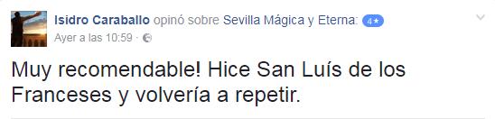 Opinión sobre Sevilla Mágica y Eterna. Opinión sobre San Luis de los Franceses y El Esplendor del Barroco. Visita guiada a San Luis