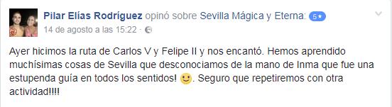 Opinión sobre Sevilla Mágica y Eterna. Opinión sobre La Sevilla de Carlos V y Felipe II
