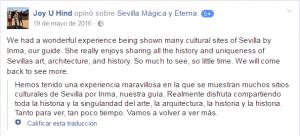 Opinión sobre Sevilla Mágica y Eterna. Opinión sobre La Sevilla Verde y la Exposición de 1929, y La Judería Legendaria y Literaria de Sevilla Mágica y Eterna