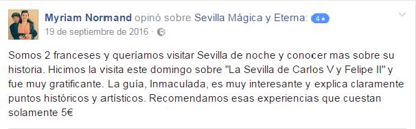 Opinión sobre Sevilla Mágica y Eterna. Opinión sobre La Sevilla de Carlos V y Felipe II de Sevilla Mágica y Eterna