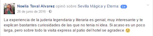 Opinión sobre Sevilla Mágica y Eterna. Opinión sobre La Judería Legendria y Literaria de Sevilla Mágica y Eterna