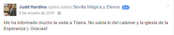 Opinión sobre Sevilla Mágica y Eterna. Opinión sobre Triana: Pura Magia y Leyenda de Sevilla Mágica y Eterna.