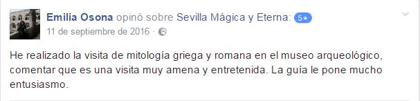 Opinión sobre Sevilla Mágica y Eterna. Opinión sobre Mitología Clásica y Arte Romano de Sevilla Mágica y Eterna