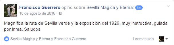 Opinión sobre Sevilla Mágica y Eterna. Opinión sobre La Sevilla Verde y la Exposición de 1929 de Sevilla Mágica y Eterna