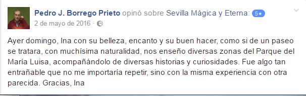 Opinión sobre Sevilla Mágica y Eterna. Opinión sobre La Sevilla Verde y la Exposición de 1929 de Sevilla Mágica y Eterna.