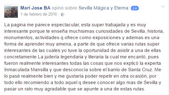 Opinión sobre Sevilla Mágica y Eterna. Opinión sobre La Judería Legendaria y Litetaria, y Mitología Clásica y Arte Romano de Sevilla Mágica y Eterna.