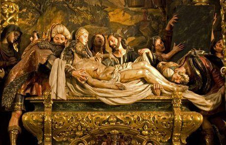 Retablo Iglesia de la Caridad. Santo Entierro de Pedro Roldán.